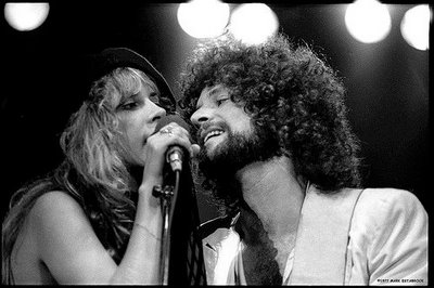 Stevie Nicks and Lindsey Buckingham (My guess is late 70's early 80's, Tusk era)