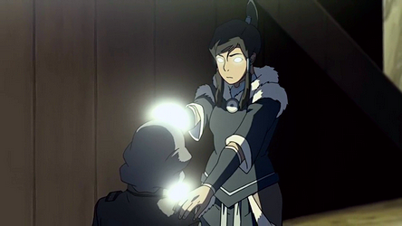 Korra eventually learns the art of energybending and restores Lin's bending at the end of the season.